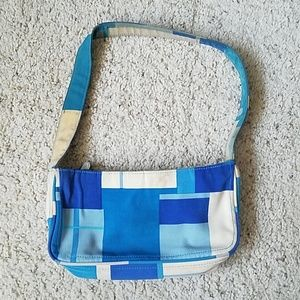 Handbags - 🔴Vintage blue/white rectangle mod mini bag